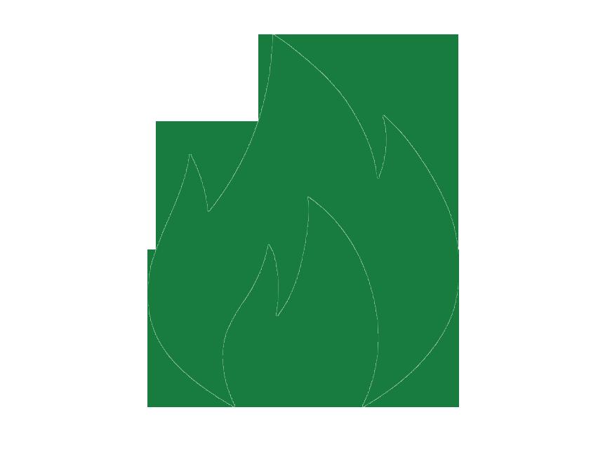 green flame